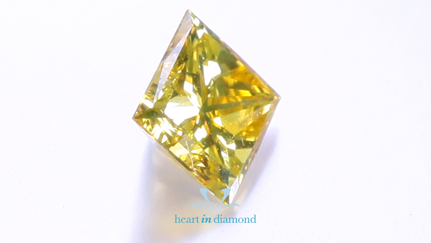 yellow diamond made from ashes
