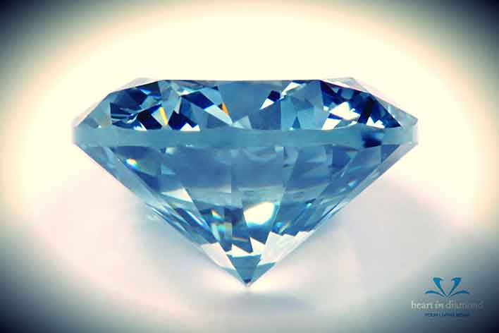 A stunning brilliant cut Blue diamond
