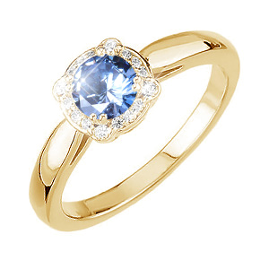 Elegant Halo 14K Yellow Gold Ring Setting