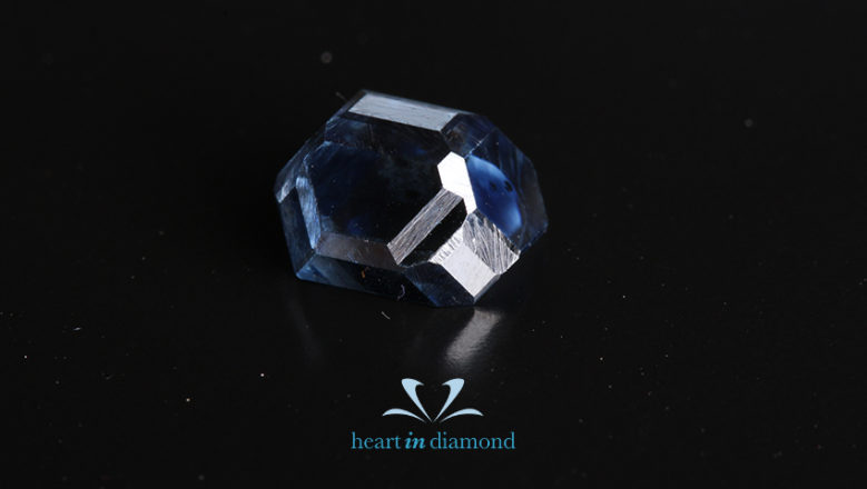 Blue Radiant Cut Diamond