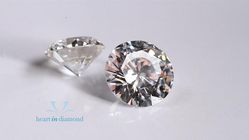 white round cut diamonds
